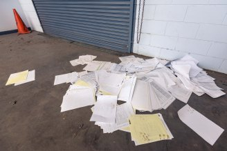 These were strewn around the place. The personal files of former students.