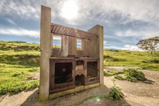 Ruins of the accomodation block kitchen