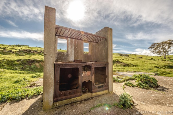 Ruins of the accomodation block kitchen