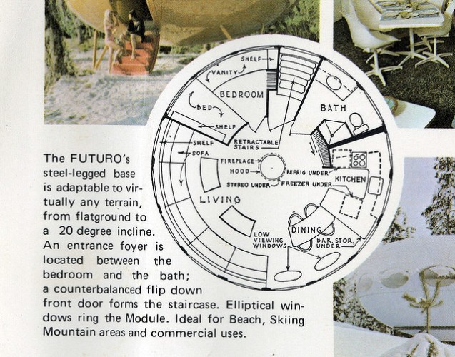 Original promotional material - floorplan of a Futuro