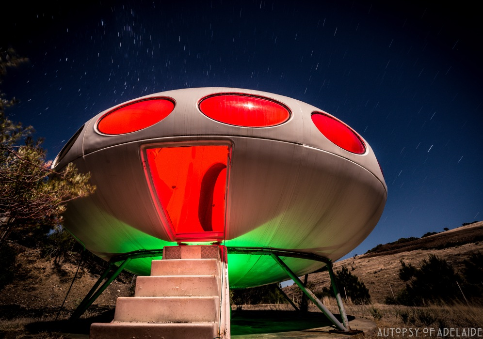 Derek Jolly's Melbourne Street North Adelaide Futuro House - 2017